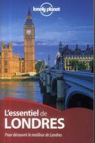 Couverture du livre « L'essentiel de Londres » de Damian Harper aux éditions Lonely Planet France