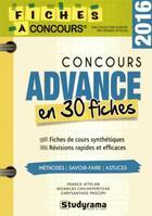 Couverture du livre « Concours advance en 30 fiches (édition 2016) » de Franck Attelan aux éditions Studyrama