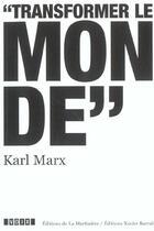 Couverture du livre « Marx » de Pascal David aux éditions La Martiniere