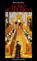 Couverture du livre « Homo Academicus » de Pierre Bourdieu aux éditions Minuit