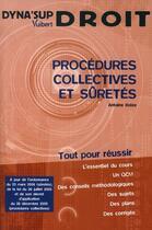 Couverture du livre « Procédures collectives et sûretés » de Bolze A. aux éditions Vuibert