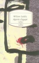 Couverture du livre « Agonie d agape n293 » de William Gaddis aux éditions Motifs