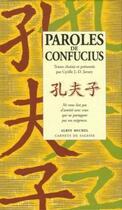 Couverture du livre « Paroles de Confucius » de Cyrille Javary aux éditions Albin Michel