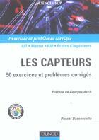 Couverture du livre « Les capteurs ; 50 exercices et problèmes corrigés » de Pascal Dassonvalle aux éditions Dunod