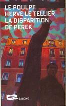 Couverture du livre « La Disparition De Perek » de Le Tellier H aux éditions Baleine