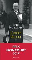 Couverture du livre « L'ordre du jour » de Eric Vuillard aux éditions Actes Sud