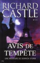 Couverture du livre « Avis de tempête » de Richard Castle aux éditions City