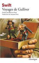 Couverture du livre « Voyages de gulliver » de Jonathan Swift aux éditions Gallimard