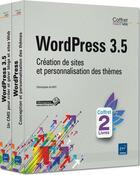 Couverture du livre « WordPress 3.5 ; création de sites et personnalisation de thèmes ; coffret » de Christophe Aubry aux éditions Eni