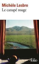 Couverture du livre « Le canapé rouge » de Michele Lesbre aux éditions Gallimard