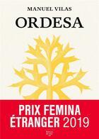 Couverture du livre « Ordesa » de Manuel Vilas aux éditions Editions Du Sous Sol