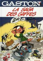 Couverture du livre « Gaston T.17 ; la saga des gaffes » de Jidehem et Andre Franquin aux éditions Dupuis