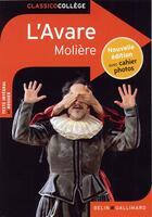 Couverture du livre « L'avare » de Moliere et Virginie Manouguian aux éditions Belin Education