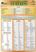 Couverture du livre « Vocabulaire italien » de Morselli/Mossy aux éditions Eska