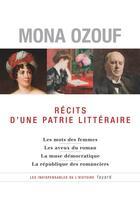Couverture du livre « Recits d'un patrie littéraire » de Mona Ozouf aux éditions Fayard