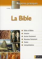 Couverture du livre « La bible ; repères pratiques t.35 » de Andre Paul aux éditions Nathan