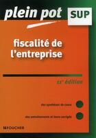 Couverture du livre « Fiscalité de l'entreprise (11e édition) » de Patrick Mykita aux éditions Foucher