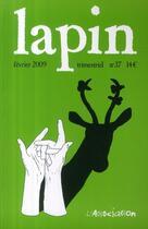 Couverture du livre « LAPIN N.37 » de Collectif aux éditions L'association