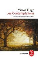 Couverture du livre « Les contemplations » de Victor Hugo aux éditions Lgf