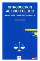 Couverture du livre « Introduction au droit public ; les principes constitutionnels » de Joel Mekhantar aux éditions Ma