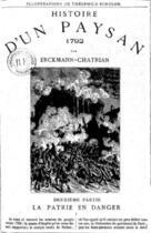 Couverture du livre « Histoire d'un paysan - 1792 - La Patrie en danger » de Erckmann-Chatrian aux éditions