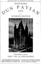 Couverture du livre « Histoire d'un paysan - 1793 - L'An I de la République » de Erckmann-Chatrian aux éditions