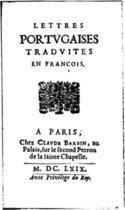 Couverture du livre « Lettres portugaises » de Gabriel de Guilleragues aux éditions