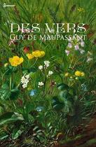 Couverture du livre « Des vers » de Guy de Maupassant aux éditions