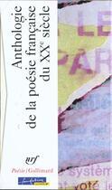 Couverture du livre « Cof Antho Du 20e 2v » de Collectif aux éditions Gallimard