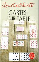 Couverture du livre « Cartes sur table » de Agatha Christie aux éditions Lgf